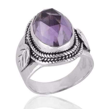 Pink Amethyst Gemstone 925 Sterling Silver Ring