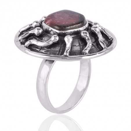 Tourmaline Fancy Gemstone 925 Sterling Silver Ring