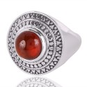 Red Onyx Gemstone 925 Sterling Silver Ring