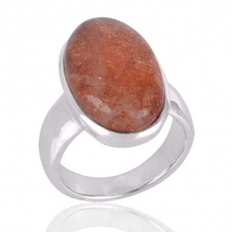 Sun Stone Gemstone 925 Sterling Silver Ring