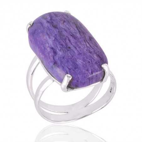 Charoite Gemstone 925 Sterling Silver Ring