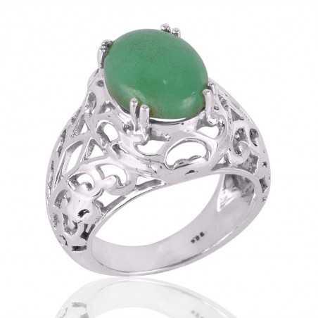 Chrysoprase Gemstone 925 Sterling Silver Ring