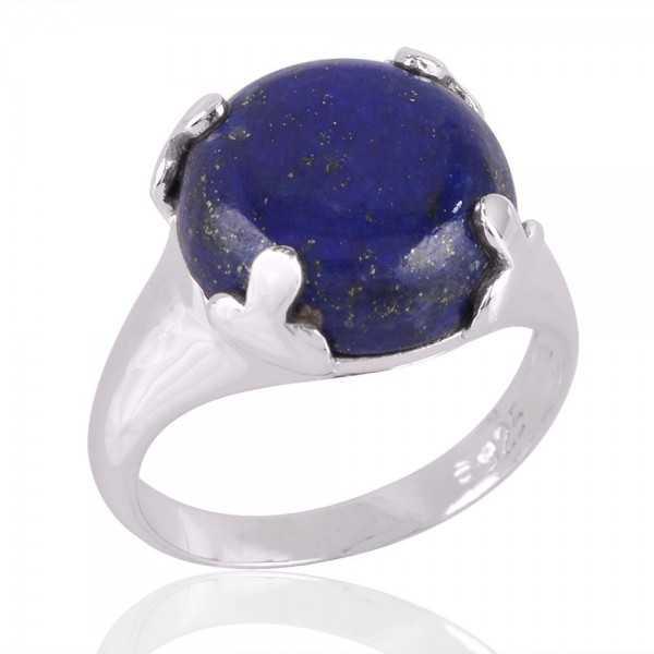 Lapis Gemstone 925 Sterling Silver Ring