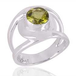 Peridot Gemstone Beautiful Design Sterling Silver Ring