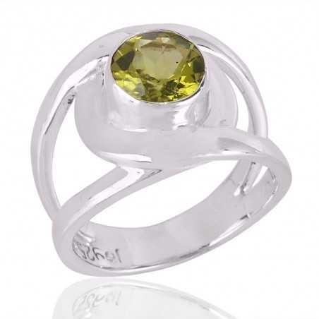 Peridot Gemstone Beautiful Design Sterling Silver Ring