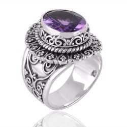 Amethyst Gemstone 925 Sterling Silver Ring
