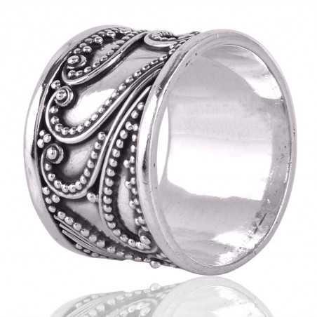 Rainbow Calsilica Gemstone 925 Sterling Silver Ring
