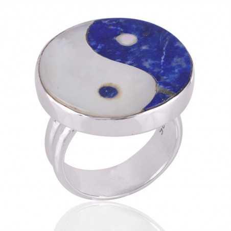 Taj Mahal Marble Fancy Gemstone 925 Sterling Silver Ring