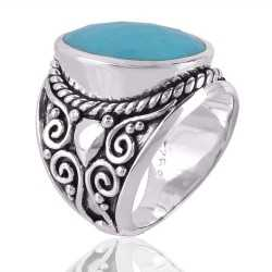 Arizona Turquise Gemstone 925 Sterling Silver Ring