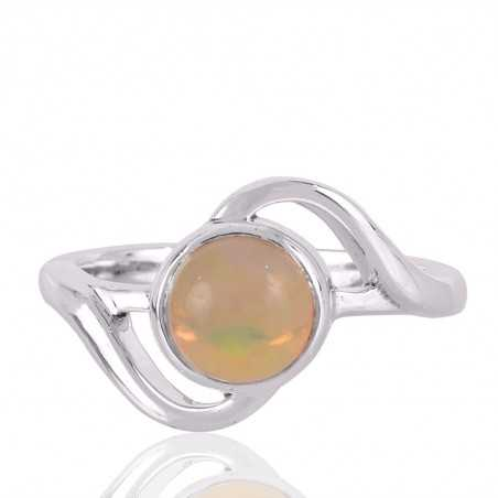Ethiopian Opal Gemstone 925 Sterling Silver Ring