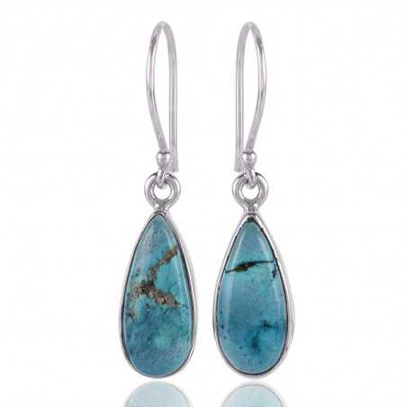 Turquoise Gemstone 925 Sterling Silver Earring