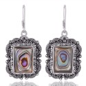 Natural Abalone Shell Mother of Pearl 925 Sterling Silver Handmade Earring