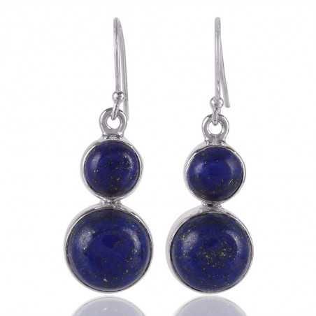 Lapis Gemstone 925 sterling Silver Dangle Earring