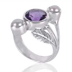 Pearl With Amethyst Gemstone 925 Sterling Silver Ring