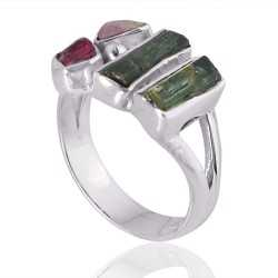 Tourmaline Gemstone 925 Sterling Silver Ring