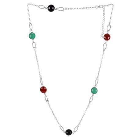 Multi Gemstone 925 Sterling Silver Necklaces