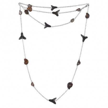 Natural Meteorite Multi Gemstone 925 Sterling Silver Necklaces