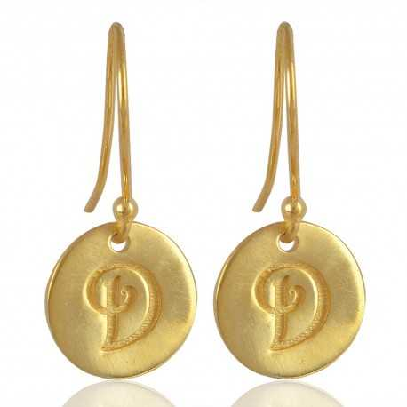 "Alphabate ""D"" Charm Fashion Earrings For Girls and Womens"