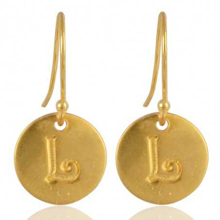 "Alphabate ""L"" Charm Fashion Earrings For Girls and Womens"