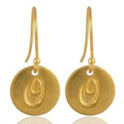 "Alphabate ""O"" Charm Fashion Earrings For Girls and Womens"