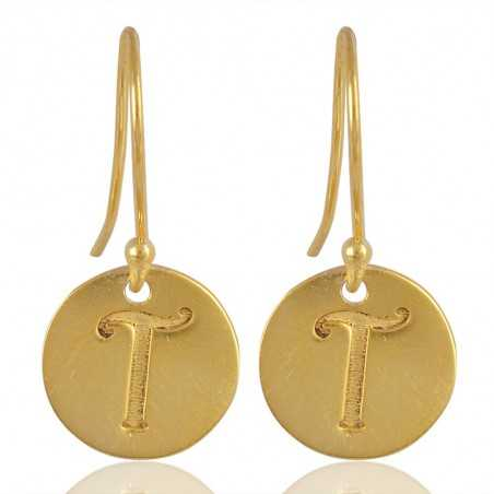 "Alphabate ""T"" Charm Fashion Earrings For Girls and Womens"