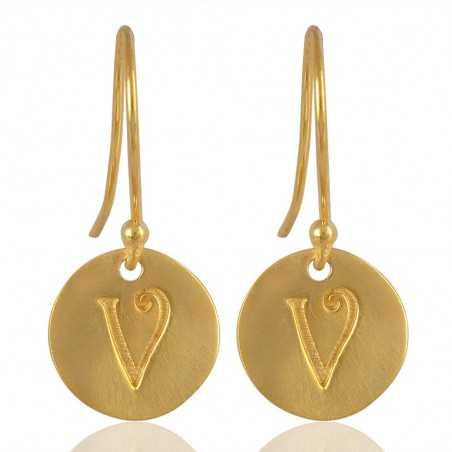 "Alphabate ""V"" Charm Fashion Earrings For Girls and Womens"