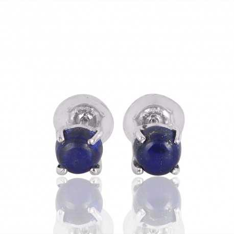 Lapis Gemstone 925 Sterling Silver Stud Earring