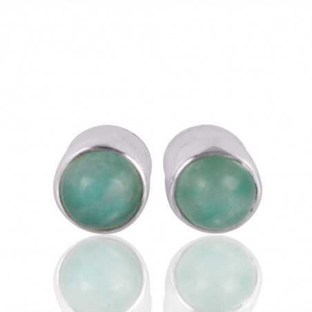 Solid Silver Amazonite Gemstone Earring