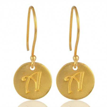 "Alphabate ""A"" Charm Fashion Earrings For Girls and Womens"