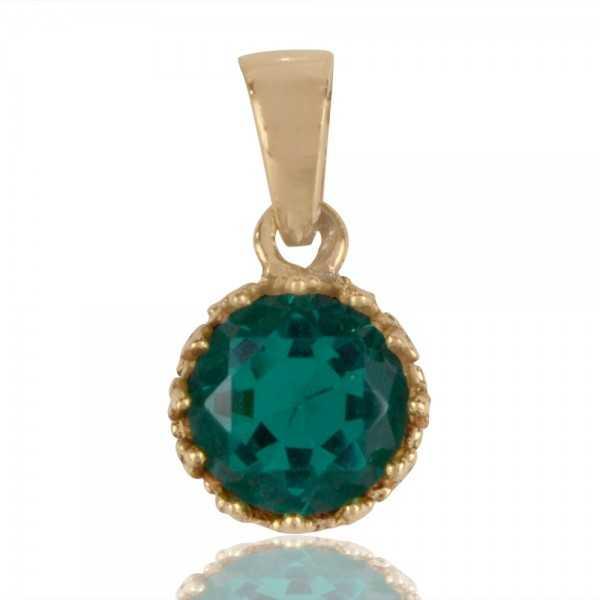 Green Swarovski Glass Gold Plated Fashion Pendant