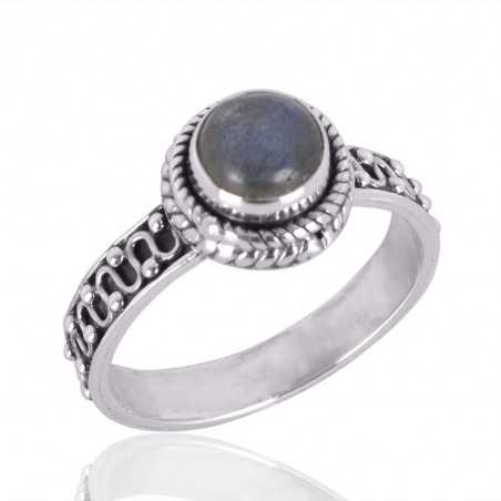 Natural Labradorite Gemstone 925 Sterling Silver Ring