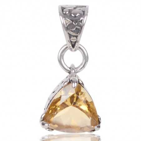 Citrine Gemstone 925 Sterling Silver Statement Pendant