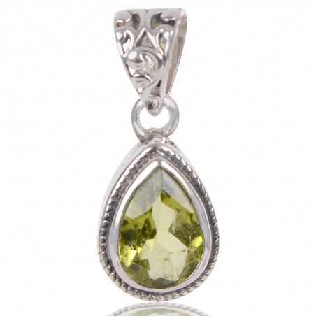 Peridot Gemstone 925 Sterling Silver Pendant