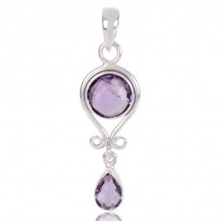 Amethyst Gemstone 925 Sterling Silver Locket Pendant