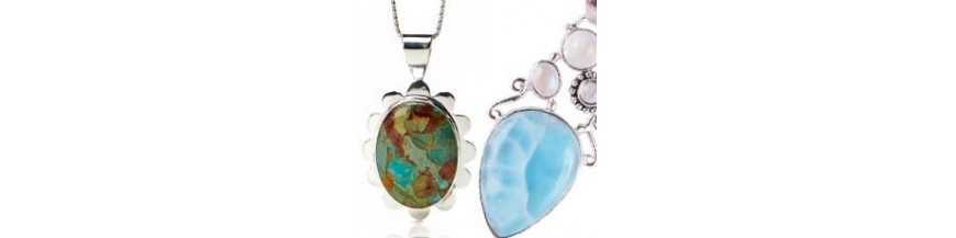 Buy Gemstone Pendants Sterling Silver Pendants Online at Best Prices  Jewelsartisan