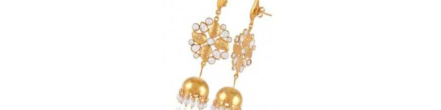 Traditional Jhumka Shop Gold Plated Jhumki and Designer Earrings | Jewels Artisan