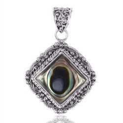 Elegant Abalone Shell 925 Silver Pendant