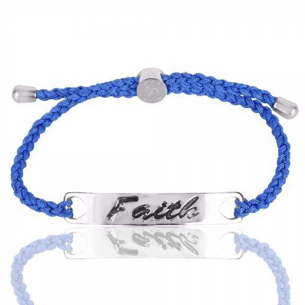 Beautiful Blue Glass Stone 925 Sterling Silve Bracelet