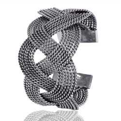 Twisted Rope Style Sterling Silver Bracelet