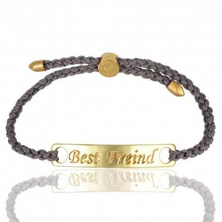 Labradorite Gemstone Gold Plated Brass Bracelet