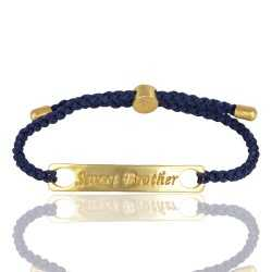 Kyanite Gemstone Gold Plated Brass Bracelet