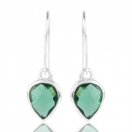 Light Green Stone Solid 925 Silver Earring