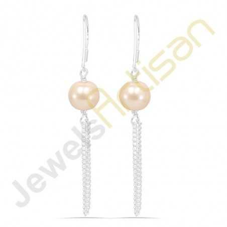 Fresh Water Pearl Earring-Sterling Silver Earring-Wholesale Jewelry