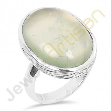 Natural Prehnite Sterling Silver Wholesale Ring Jewelry