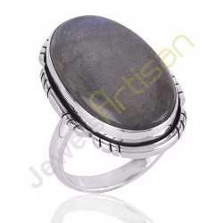 Blue Flashy Labradorite Sterling Silver Handmade Ring silver rings for women