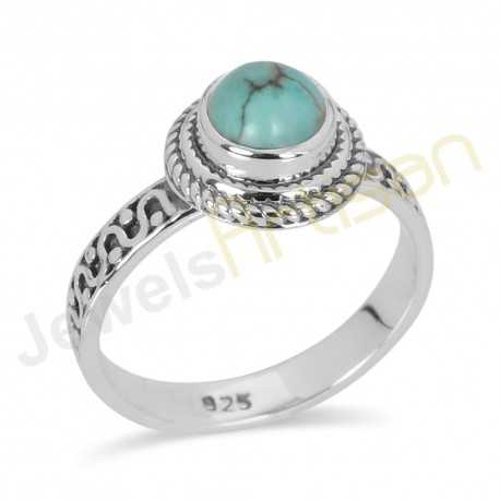 Turquoise Ring Turquoise Sterling Silver Ring Handmade Ring for her