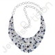 Kyanite Iolite And Rainbow Moonstone Gemstone Necklace Handcrafted 925 Sterling Silver Necklace