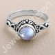 Rainbow Moonstone Ring 925 Sterling Silver Ring Solitaire Ring Traditional Design Ring Handcrafted Silver Ring