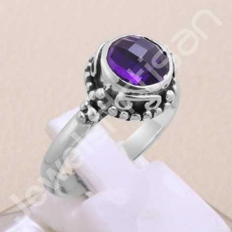 Amethysts Ring Amethysts Midi Ring Amethysts Ring Jewelry 925 Sterling Silver Midi Ring Amethysts Silver Ring Handmade Ring