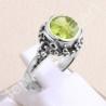 925 Sterling Silver Ring Peridot Gemstone Ring Classic Solitaire Ring Designer 8x8mm Round Peridot Gemstone Handmade Silver Ring